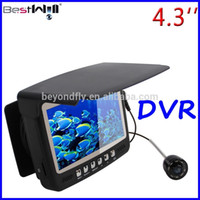 Wholesale 20M M Cable Visible Fish finder With color Monitor Underwater Fishing Camera HD Digital LCD DVR TVLines TVL