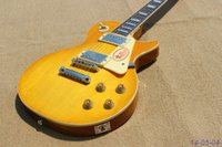 best electric saw - Best Selling PL electric guitar amber yellow color see thru high grade