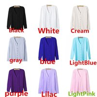 Wholesale New Arrivals Women s Lady s Knits Tops Cardigan Outwear Clothing Coat V Neck Long Sleeve Fiber AX217