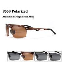 aluminium hinges - Driving sunglasses men polarized glasses with aluminium magnesium alloy frame and matel spring hinge oculos de sol masculino