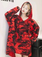 Wholesale XMAS gift SWEATER ulzzang camouflage college hooded fleece sweatshirts women s hoodie Outerwear coat spring Autumn Student clothes