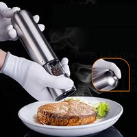 Wholesale Stainless Steel Electric Kitchen Tool Spice Mills Sauce Salt Pepper Mill Spice Grinder Kitchen Tool