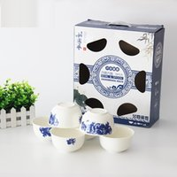 Wholesale Chinese style ceramic tableware blue and white porcelain crafts gifts