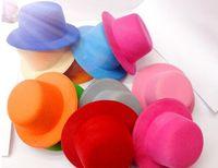 millinery - 15color quot Solid Felt Mini Top Hat Fascinator base Women Millinery Party Hat