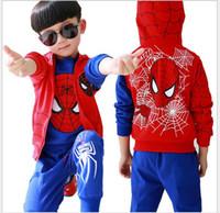 Le sport pc France-Spiderman Enfants Garçons Vêtements mis Baby Boy Araignée homme Sport Suits ans Enfants 3 pièces Sets Printemps Automne Vêtements Survêtements