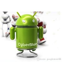 Wholesale Cheap Mini Android Robot Type Cartoon Wireless Bluetooth Sound Speaker Audio Stereo for Cellphone Computer MP3 MP4 MP5 Bluetooth music playe