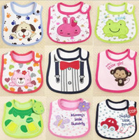 Wholesale bibs smocks models Infant saliva towels layer toddler Baby bibs Baby burp cloths kids cotton handkerchief children animal bibs