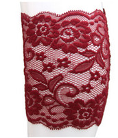 Wholesale The new pattern of elastic lace socks and white lace boot cuffs set foot bride