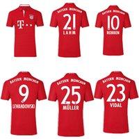 Wholesale new Bayern Munich Jerseys Shirt Robben Alonso Muller Lewandowski Vidal Wholesalers home away jersey rugby