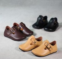 baby closer - Boys and girls of the fall new Leather shoes Baby single shoes casual shoes moccasin gommino