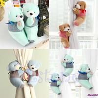 Wholesale Pair Baby Kid Cartoon Bear Holder Nursery Bedroom Curtain Tieback Buckle Hook Colors