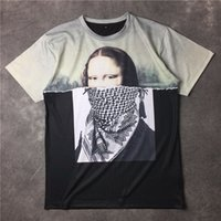 animal lover shirt - 2016 spring new fashion brand GVC Mona Lisa D printed short sleeved T shirt men T shirt lovers summer