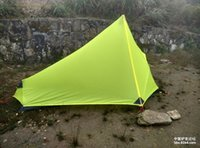 Wholesale Ultralight Camping Tent F UL GEAR g Oudoor Ultralight Camping Tent Season Single Person Professional D Nylon Silicon Coating Rodle