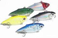 Wholesale 6cm g Vibration VIB Minnow Baits Shock Type Fishing Lures Bionic Bait Plastic fishing Fish tackle Fishing Baits Hooks Saltwater Hard Bait