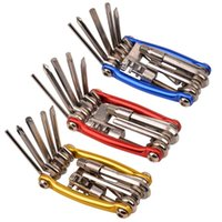 Wholesale New in Mini Multi function Cycling Repair Tool Set Bike Wrench Screwdriver Chain Cutter Bicycle Repair Tools