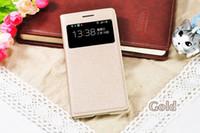 i9195 - Slim Smart View Shell Auto Sleep Wake Bag Original Leather Case Flip Cover Holster For Samsung Galaxy S4 Mini I9190 I9192 I9195