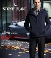 Wholesale fast shipping new island stone autumn mens jacket bomber jacket and coat island blue jacket with hat