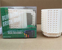 Wholesale 2017 New Hotest Drinkware Building Blocks Mugs DIY Block Puzzle Mug oz Piece Build On Brick Creative Mug Lego Type Coffee Cup