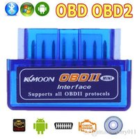 Wholesale Newest Super V2 OBD OBD2 Bluetooth Interface Auto Car Scanner Diagnostic Tool for Android Windows Symbian