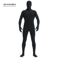 Wholesale New Black Lycra Spandex Zentai Suit for Men