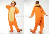 Cheap Wholesale-Free Shipping Onesie Unisex Adult Pajamas Cosplay Costume Animal Onesie Sleepwear Suit lion