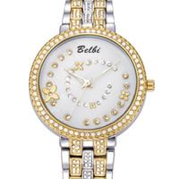 Compra Los mejores relojes de moda de calidad-Marca de lujo caliente Belbi relojes del reloj de señora de las mujeres del movimiento del cuarzo del reloj de alta calidad de la manera ocasional del mejor regalo