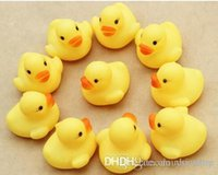 Wholesale 2015 New Arrival Baby Kids Bath Water Toy Rubber Yellow Ducks Children Swiming Gifts