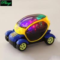 al por mayor wholesale toy cars-Nuevo universal eléctrico caliente con el coche de juguete eléctrico del modelo del coche del concepto de la música de la luz 3D al por mayor PI0764