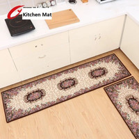 acrylic bath mats - 180x50cm Partoral Rose Kilim Kitchen Mat Non slip Bath Area Rug Decro Acrylic Soft Doormat Long Strips Bedside Carpet for Sale