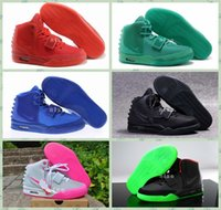 Wholesale 2016 Kanye West Shoes NRG Red Octobers Shoes Gamma Blue Glow In The Dark Women And Mens Kanye West Basketball Shoes