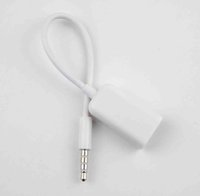 Wholesale New mm Male AUX Audio Plug Jack to USB Female Converter Cable Cord Car MP3