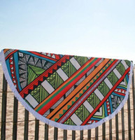 Wholesale Indian Round Mandala Tapestry polyester Round Beach Towels with Tassel Yoga Mat Wall art Hanging Large Shawls Pincnic Throw Blanket BKT086