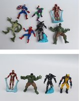 Wholesale 2016 hot The Avengers Action Figures Spider Man dolls iron Man Captain America kids Toys Gifts