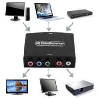 audio and video components - 1080P HD Clear HDMI To RGB Component YPbPr video and R L audio Adapter Converter Cheap converter mp3