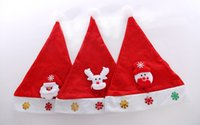 Wholesale 100pcs Christmas Decoration hats Santa Claus hat High grade Christmas hat snowman hat Cute adults kids Christmas Cosplay Hats