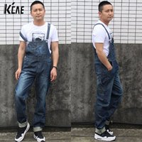 bib overalls for boys - New Brand Men s fashion pocket denim overalls for boys Male casual loose jumpsuits Plus large size XS XL jeans Bib pants