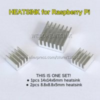 aluminum heatsink - 10set Aluminum Heatsink Radiator Heat Sinks Cooler Kits For Cooling Raspberry Pi All versions are available