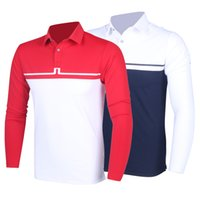 Wholesale Mens golf polo shirts new arrival autumn men long sleeved Golf T shirt suction sweat breathable Golf T shirt top quality