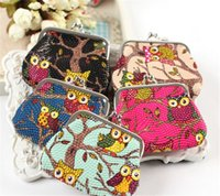 Wholesale Kids Coin Purse Wallet Cartoon Owl Hasp Coin Purses Girls Mini Purses Women Ladies Wallets Money Bag Party Supplies Christmas Gifts New