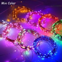 Wholesale DC V M LED Outdoor Copper Wire Colors Light Lighting Christmas Starry LED String Light Power Adapter