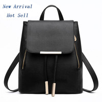 Wholesale Women Backpack High Quality PU Leather Mochila Escolar School Bags For Teenagers Girls Top handle Backpacks Herald Fashion