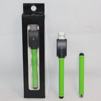 battery charger work - 510 battery with USB charger vape bud touch O Pen battery green color touch screen mah Work with glass CBD CE3 Ceramic atomizer