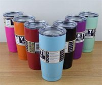 Wholesale COLORFUL oz Yeti Cup Stainless Steel Yeti Rambler YETI Coolers Rambler Tumbler Double Walled Travel Mug