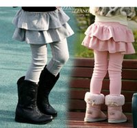 age clothing - 2016 halloween kids clothing Baby Kids Girl Stretch Pantskirt Cartoon Mickey Minnie Jeans Leggings Pants Grey and Black for age Y