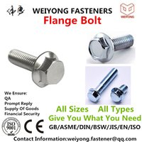Wholesale Flange Bolt DIN6921 High Tensile Yellow Zinc Plated Hex The Quality Products Can be customized Appropriate logistics