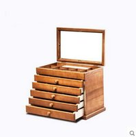 Wholesale Wooden jewelry box jewelry box Europe type restoring ancient ways necklace hand act the role of article receive arrange Chinese style wooden