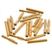 batteries rotors - 20 pairs mm Gold Bullet Connector Banana Plug for DIY RC Battery ESC Motor Plug RC Model Airplane Multi Rotor Quadcopter