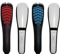 air straighteners - 2016 Detangling Anion Hair Straightening Brush Top Hair Straighteners Hair Straightener with Spray Steam Flat Iron Brush Hot Air Brush