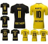 Wholesale Customized Thailand Quality Soccer Jersey Dortmund REUS Home Football Jersey Home KAGAWA Football Jersey Shirt M GOTZE wear