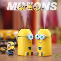 best cool humidifier - Best Humidifiers Small Yellow People Minions USB LED Night Light Ultrasonic Cool Mist humidifiers Fresh Air Spa Aromatherapy Christmas Gifts